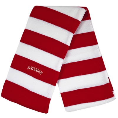 Marist College LogoFit Niagara 2 Color Rugby Striped Knit Winter Scarf