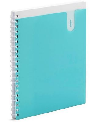 Poppin Aqua 1Subject Pocket Spiral Notebook