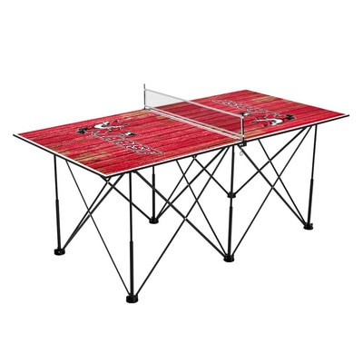 Marist College Red Foxes Pop Up Table Tennis 6ft Weathered Design