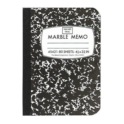 Mead Square Deal Memo Book Narrow Ruled 80 Sheets Black