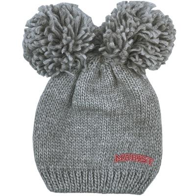 Marist College Logofit Leia Double Pom Knit Hat