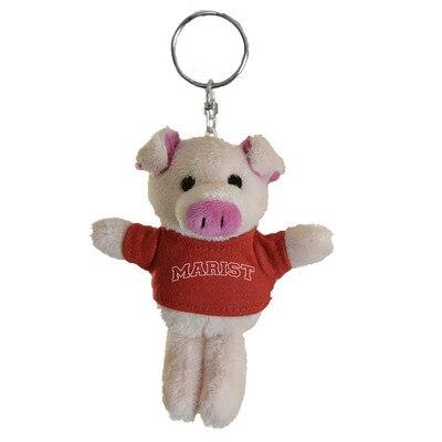 Marist College 4in Plush Pig Keychain
