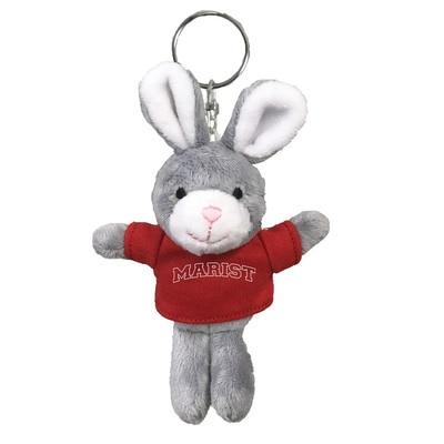 Marist College 4in Plush Bunny Keychain