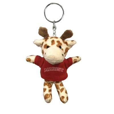 Marist College 4in Plush Giraffe Keychain