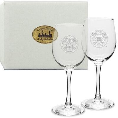 Marist College Set 2 White Wine Glass