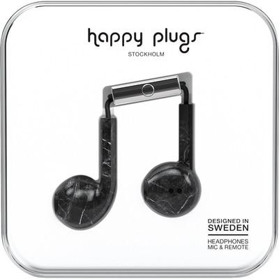 Happy Plugs Black Marble Earbud Plus