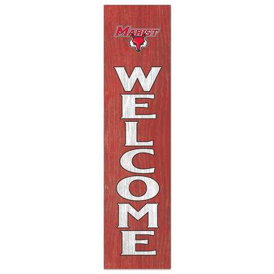 """Marist College Leaning """"Welcome"""" Sign"""