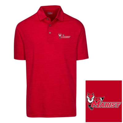 Marist College Oxford America Snyder Heathered Jersey Polo