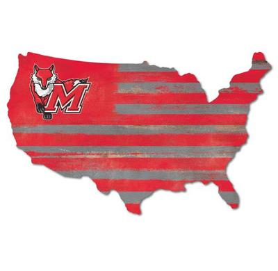 Marist College USA Map Wall Mount