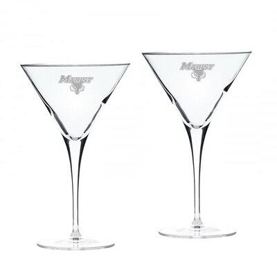Marist College Martini Glass 2pk