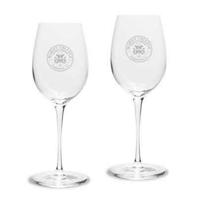 Marist College White Wine Glass 2pk