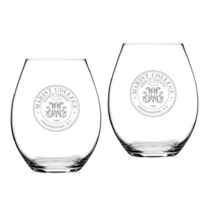 Marist College Riedel Stemless Wine Glass 2pk
