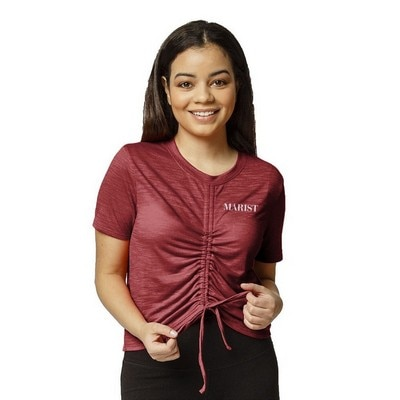 Marist College Womens Athleisure Front Gather T Shirt