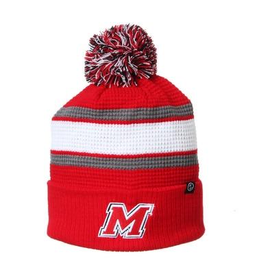 Marist College Zephyr Lincoln Cuffed Pom Knit Cap Hat