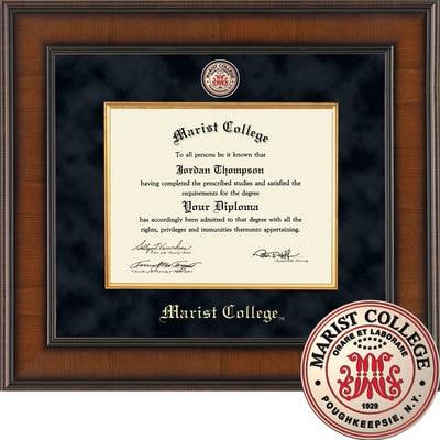 "Church Hill Classics 8"" x 10"" Presidential Walnut Diploma Frame"