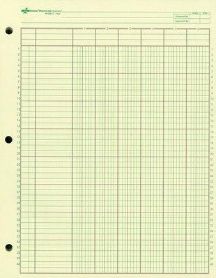 Wilson Jones Column Write Pads 8 12 x 11 50 Sheets