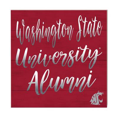 Washington State Team Color Alumni Sign