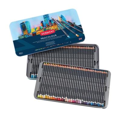 Derwent Procolour Pencil Set, 72-Pencil Tin Set