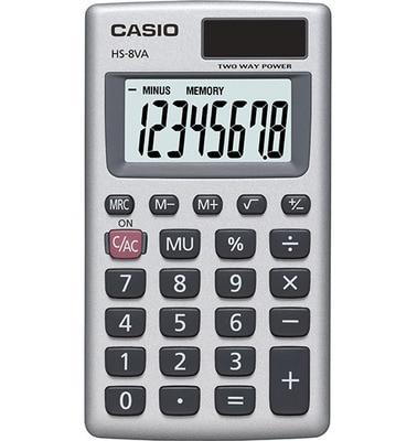 Casio HS-8V Solar Powered Basic Calculator