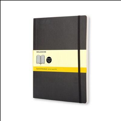 Moleskine Classic Notebook xl Squared Black Soft Cover