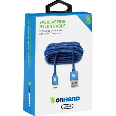 OnHand 5 FT USB Type-C Cable Blue
