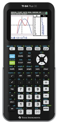 Texas Instruments TI-84 Plus CE Graphing Calculator in Black