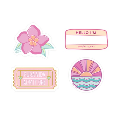 Sweet Girl Stickers - 4 Pack