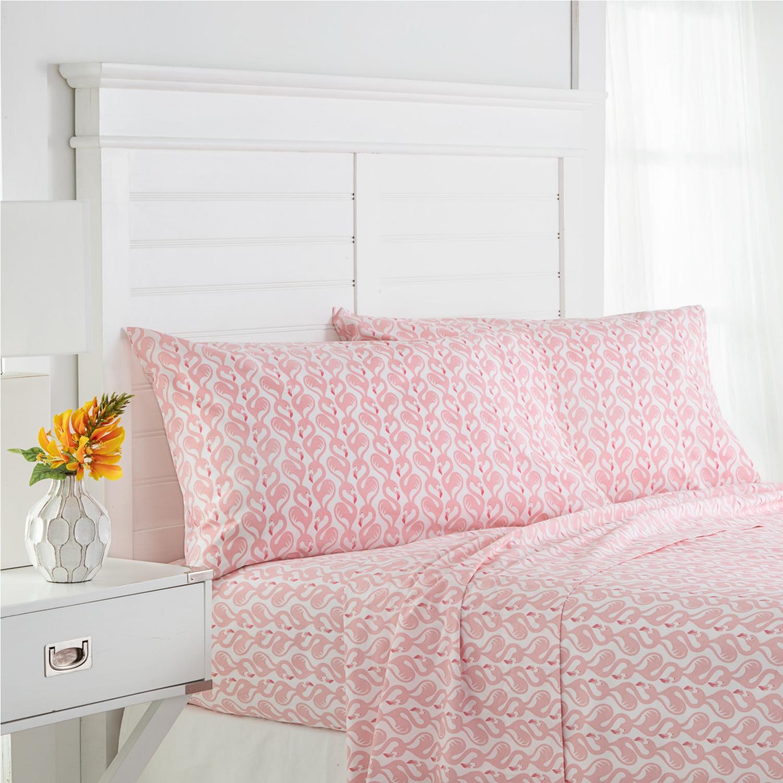 Southern Tide Flamingo Twin Pink Sheet Set