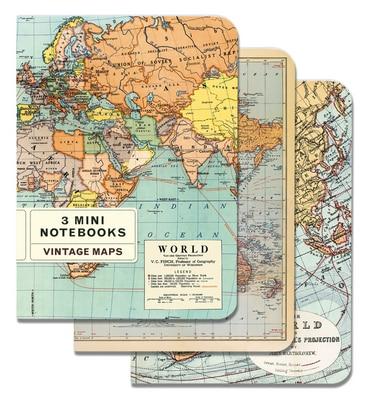 Vintage Maps Mini Notebook Set