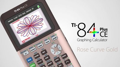Texas Instruments TI-84 Plus CE Rose Gold Graphing Calculator