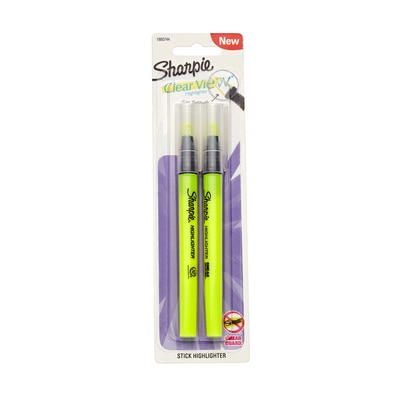 Sharpie Clear View Stick Highlighter Yellow 2/Pack