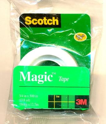Scotch Magic Tape 205, 3/4 in x 500 in (19 mm x 12,7 m)