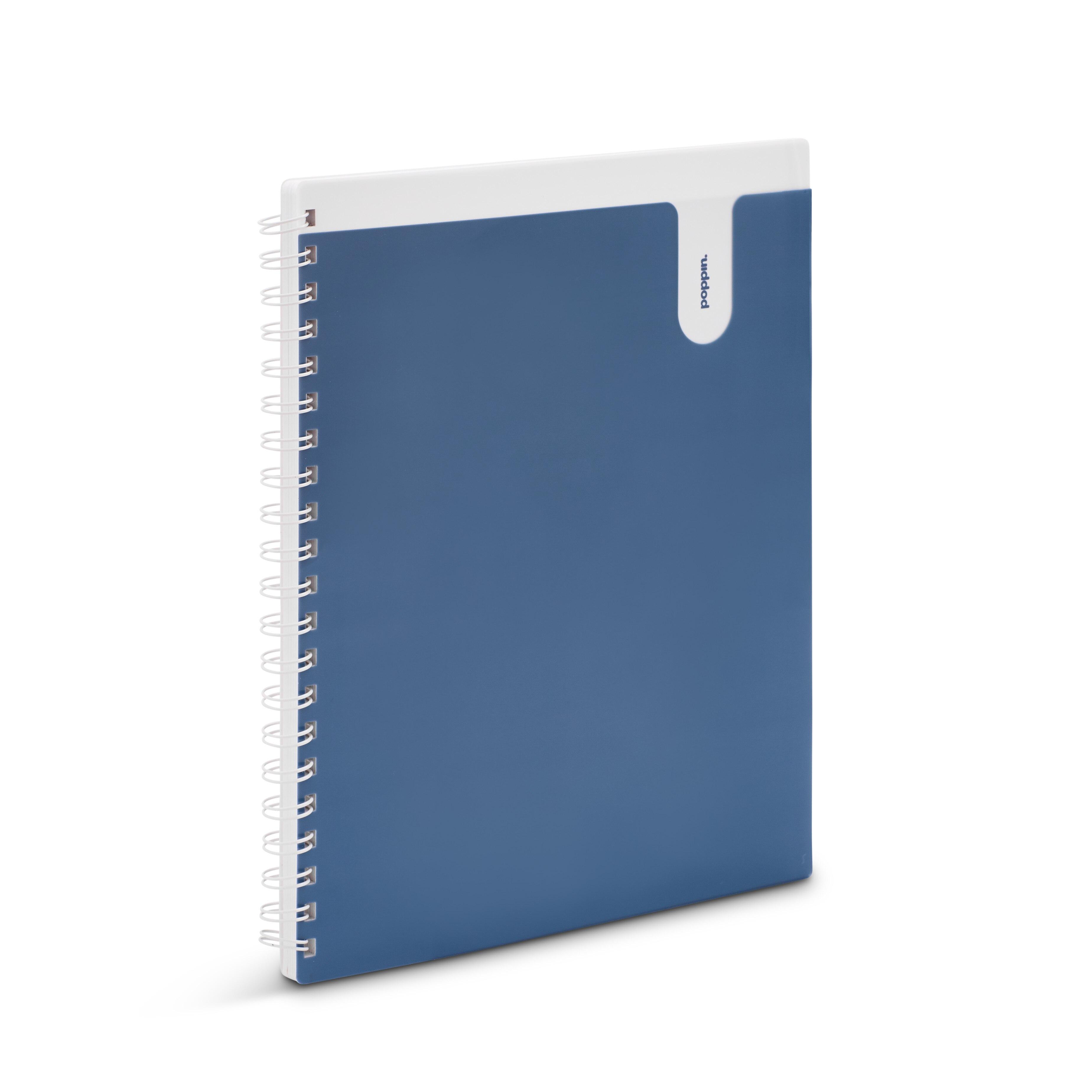 Poppin Slate 1Subject Pocket Spiral Notebook