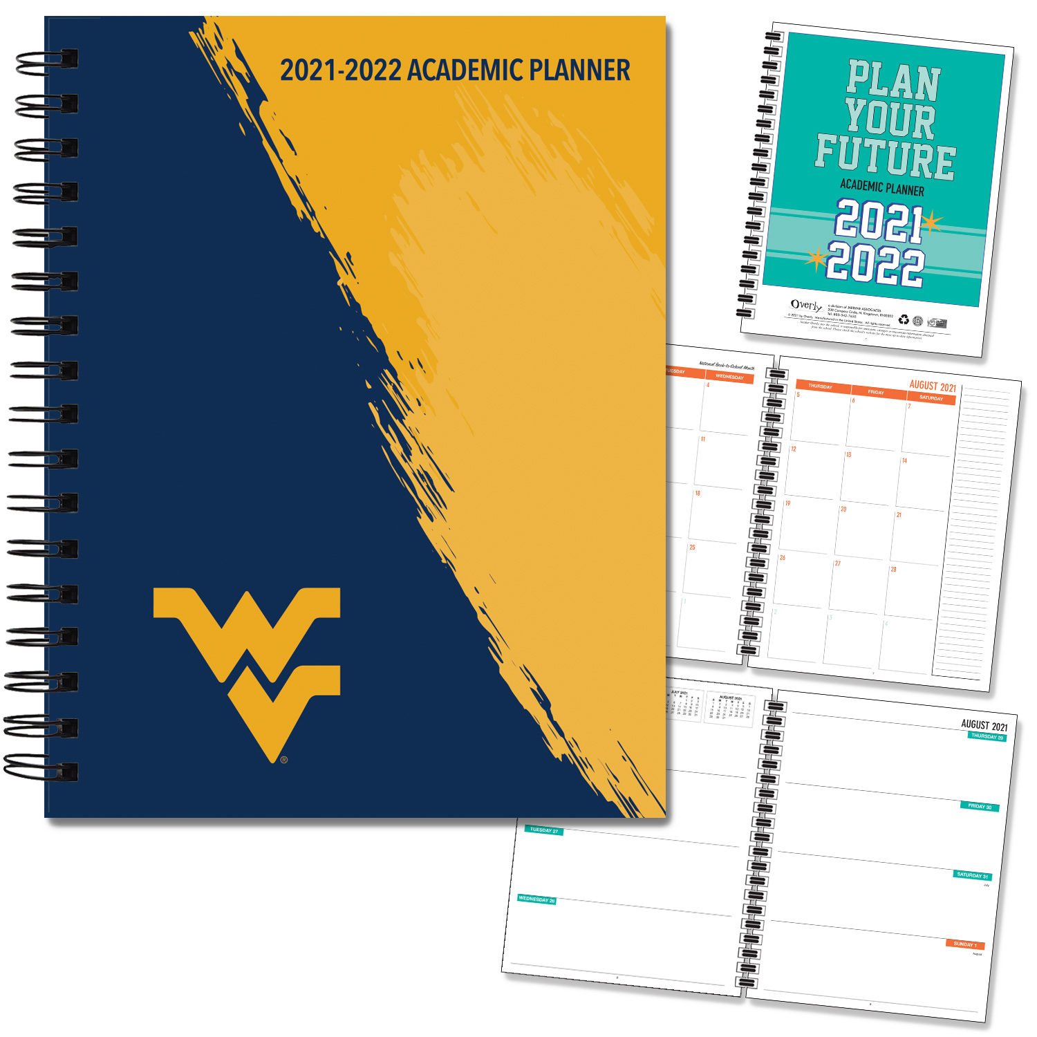 West Virginia 20-21 7x9 Hard Cover Planner