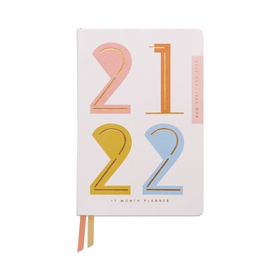 2021-2022 Designworks Ink Vegan Leather 17 Mo Planner Abstract Numbers