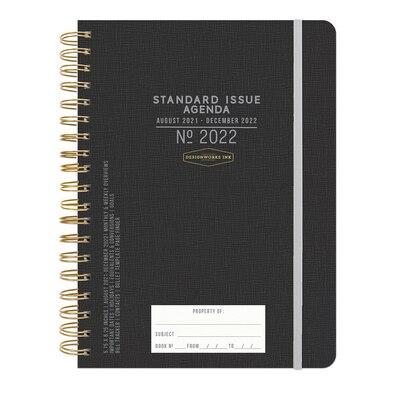 2021-2022 Designworks Ink Standard Issue Twin Wire 17 Mo Planner Black