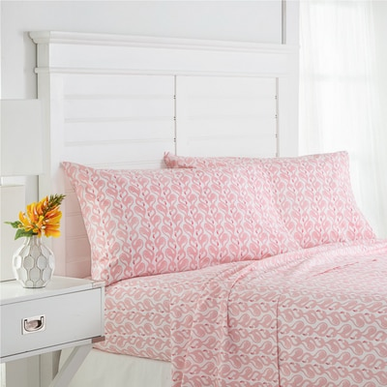 Southern Tide Flamingo Twin Xl Pink Sheet Set
