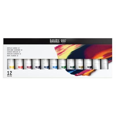 Liquitex Studio Heavy Body Acrylic Color Set, 12-Colors