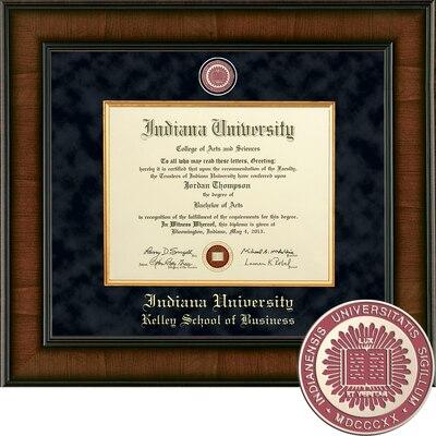 "Church Hill Classics 8.5"" x 11"" Presidential Walnut Kelley School of Business Diploma Frame"