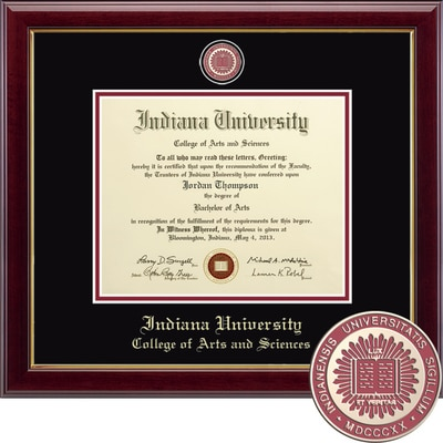 """Church Hill Classics 8.5"""" x 11"""" Masterpiece Cherry College of Arts and Sciences Diploma Frame"""