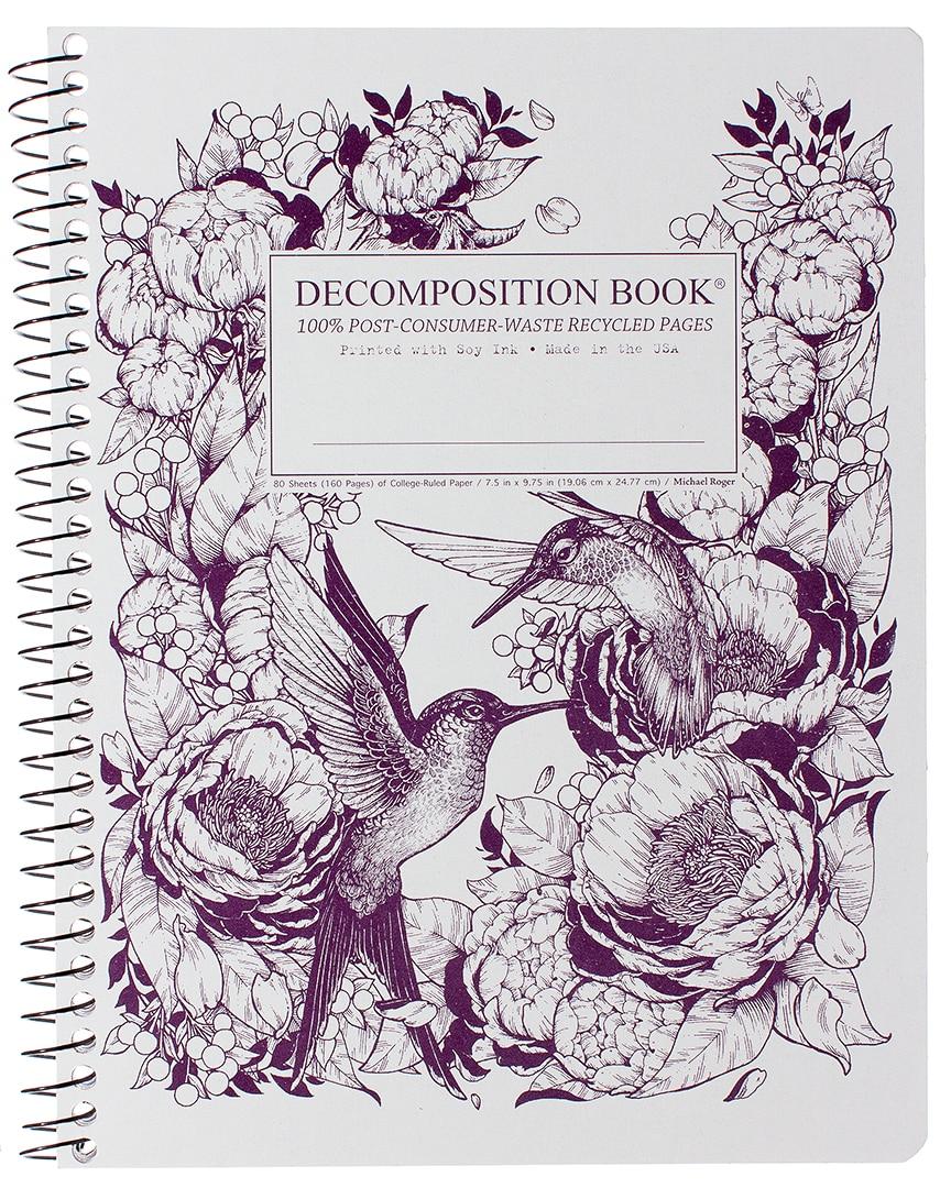 Michael Roger Hummingbirds Coilbound Decomposition Book
