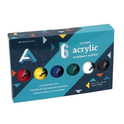 Art Alternatives Studio Acrylic, 6 Color Set