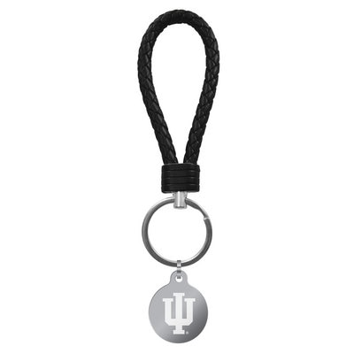Indiana Leather Braided Loop Keychain