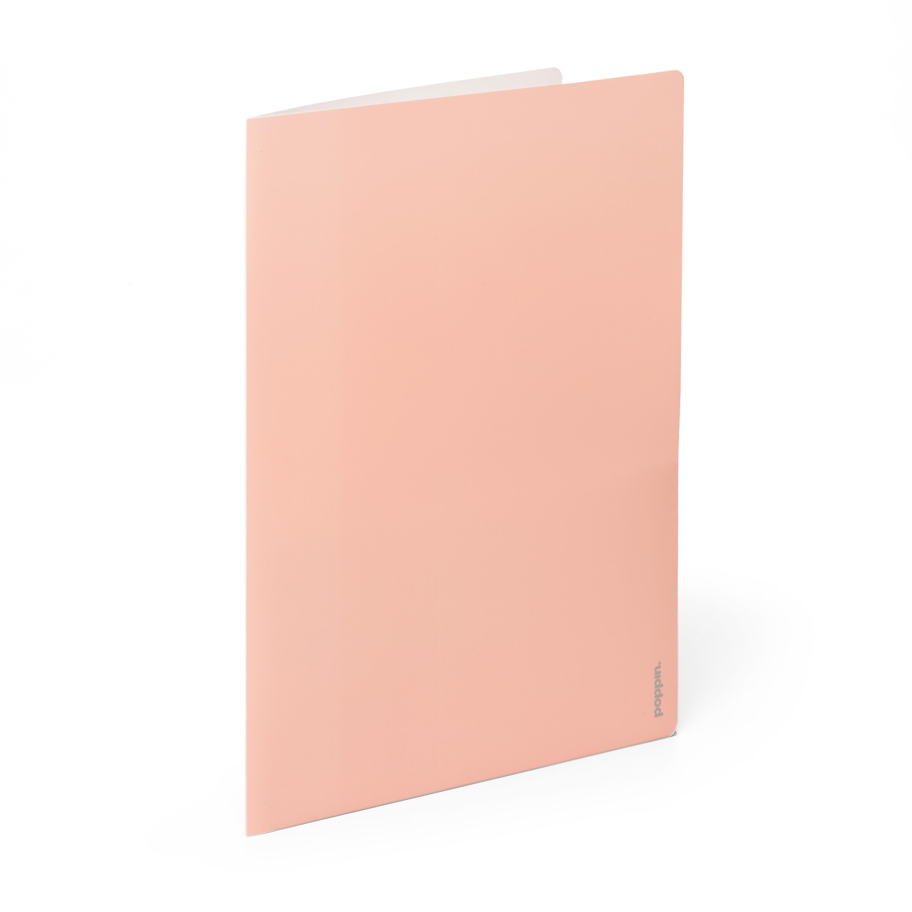 Poppin Blush  Light Gray 2Pocket Poly Folder