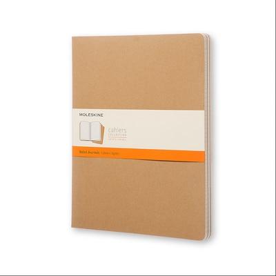 Moleskine Cahier Journal (Set of 3) XXL Ruled Kraft Brown Soft Cover