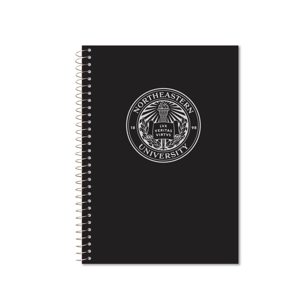 Roaring Premium 3 Subject 9.5 x 6.5 Notebook College Ruled 20lb Paper Pressboard Foil Cover