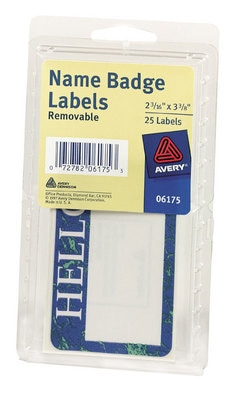 Avery Selfadhesive 2316 x 338 Name Badge Labels 25 Badges