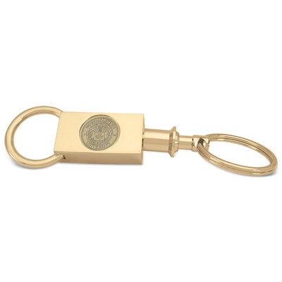 Northeastern Gold Two Section Key Ring