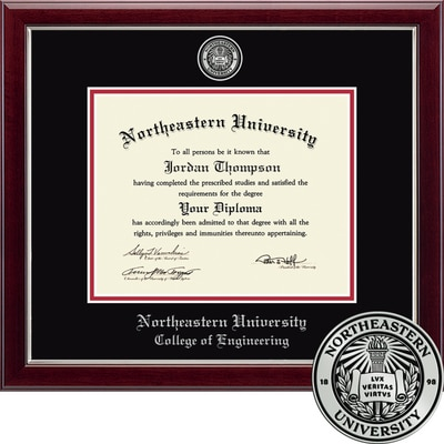 """Church Hill Classics 11"""" x 14"""" Masterpiece Cherry College of Engineering Diploma Frame"""