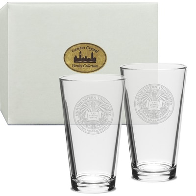 Northeastern Set of 2 Pint Glass